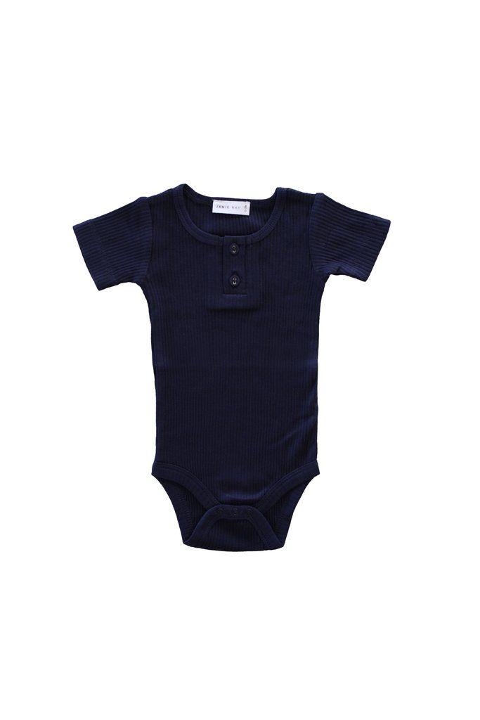 e8460690e Cotton Modal Tee Bodysuit Navy | Jamie Kay | Bodysuit, Onesies, Cotton