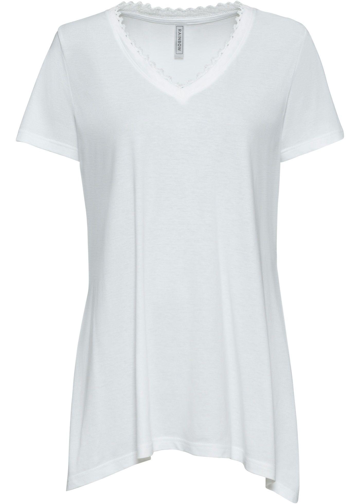 T-Shirt mit Zipfel-Saum
