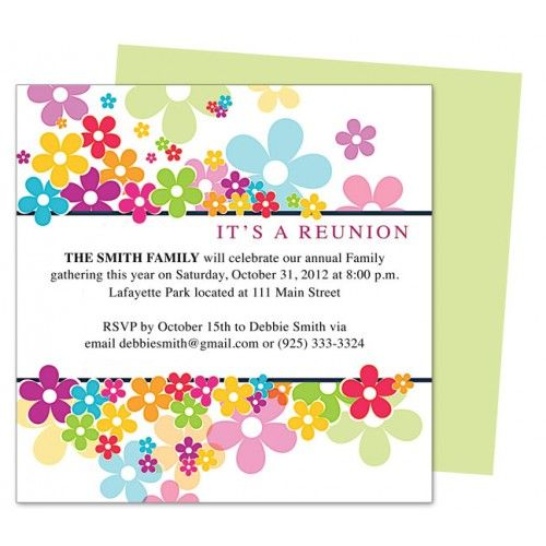 Find your desired family reunion invitations template! Call up all