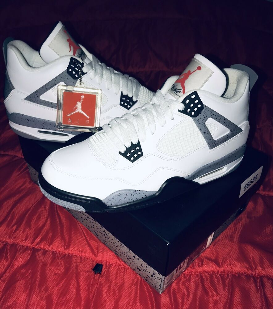 new style c9155 5398a Nike Air Jordan IV 4 Retro 2012 White Cement Grey Black Sz 10.5 #fashion #
