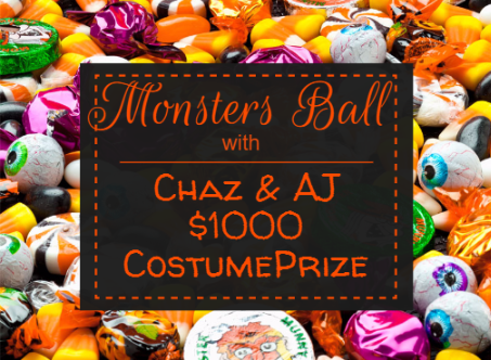 Chaz And Aj Monsters Ball At Fantasia Sat Oct 29 7 11 30pm 1 000 Prize Live Music From Bad Apples Appetizers And Mo Happy Halloween Halloween Fantasia