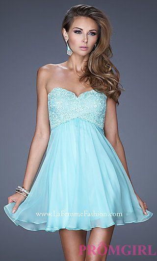 La Femme Strapless Sweetheart Dress at PromGirl.com.  sweet