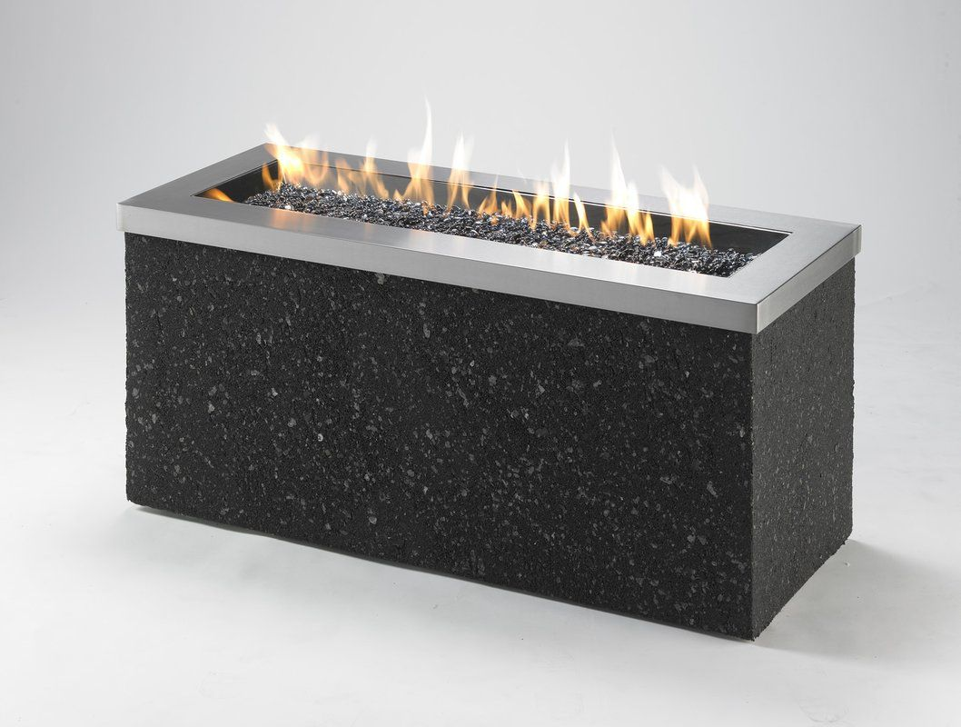 Crystal fiberglass propane and natural gas fire pit natural gas
