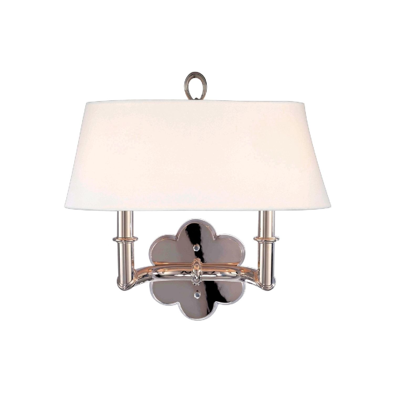 Hudson valley pomona light polished nickel wall sconce polished