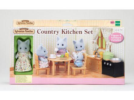 Sylvanian Families Toys Country Kitchen Set Kids Toy Birthday Gift Free