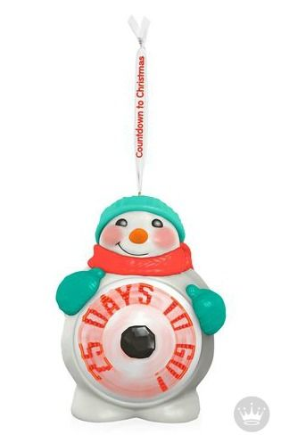 Waiting is hard so make it fun with this Christmas countdown Hallmark  Keepsake Ornament. Press the button to see a daily countdown message appear  in the ... - Waiting Is Hard So Make It Fun With This Christmas Countdown