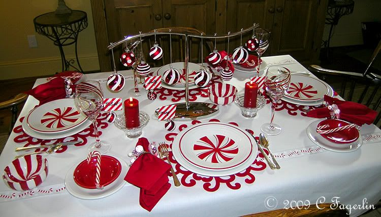 Fiesta Candy Cane Tablescape - Great look for a kids table. & Fiesta Candy Cane Tablescape - Great look for a kids table. | The ...