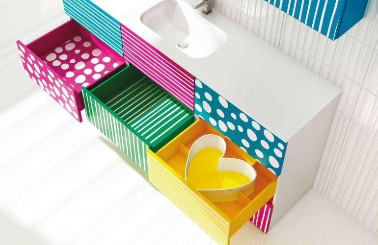 muebles de baño ? agatha ruiz de la prada #drawers #bathroom ... - Azulejos Bano Agatha Ruiz Dela Prada