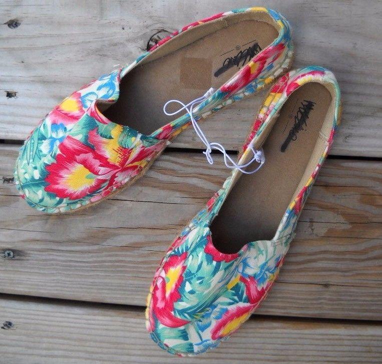 #Designer #MOSSIMO #IslandPrint #Floral #Canvas #Espadrille #Flats #EspadrilleFlats Size 8, NWOB! #Shoes