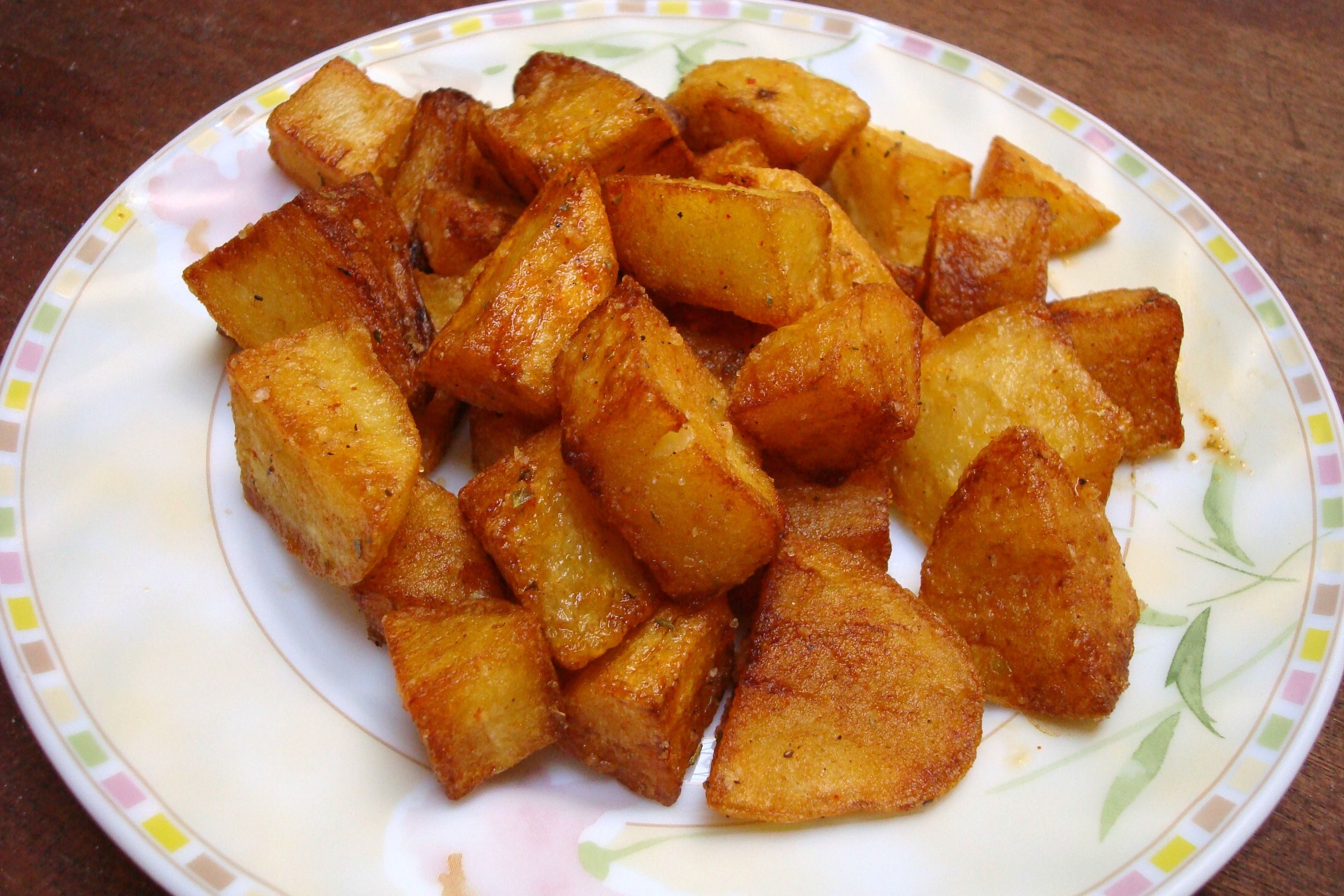 Deep Fried Cubed Potatoes With Moroccan Spices Recipe Fried Potatoes Recipe Cubed Potatoes Deep Fried