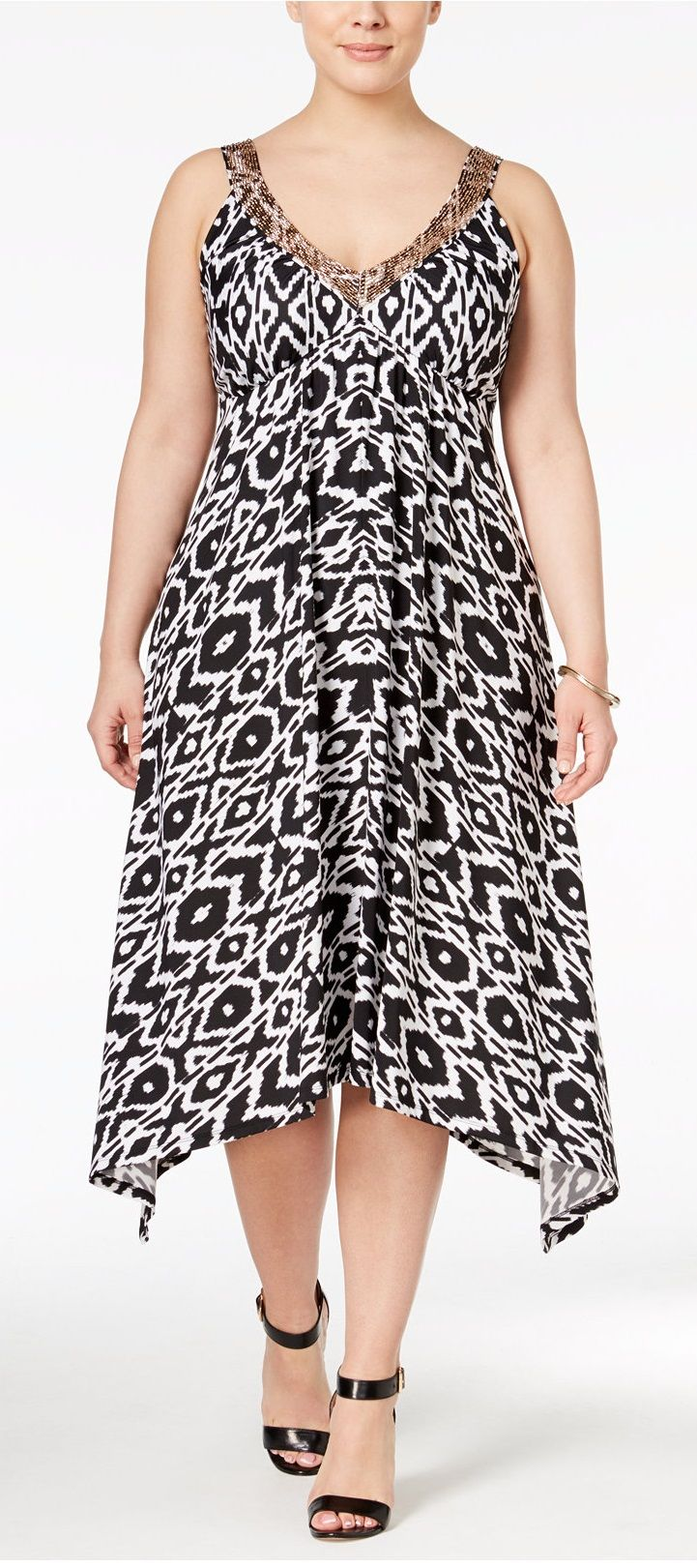 Plus Size Handkerchief-Hem Dress   Plus Size Fashion   Pinterest ...