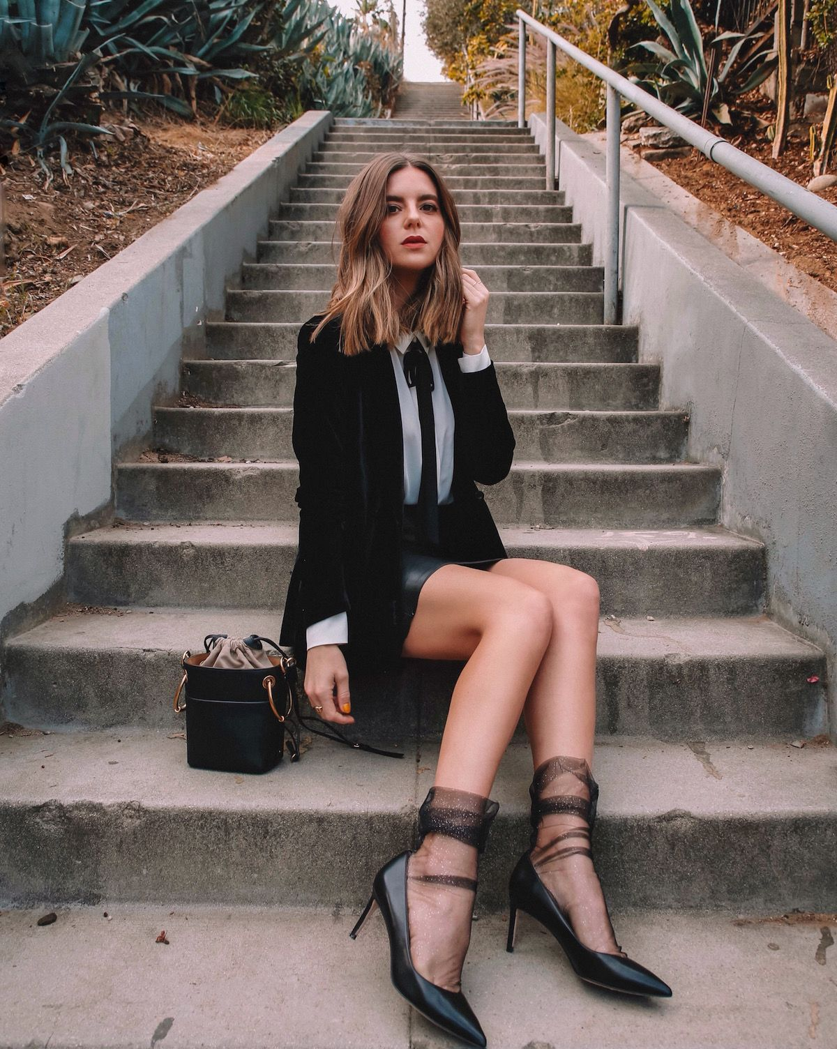These Calzedonia sheer, glittery socks totally transform a simple everyday  look into a fun and trendy holiday looks with Calzedonia. | LA Fashion  Blogger