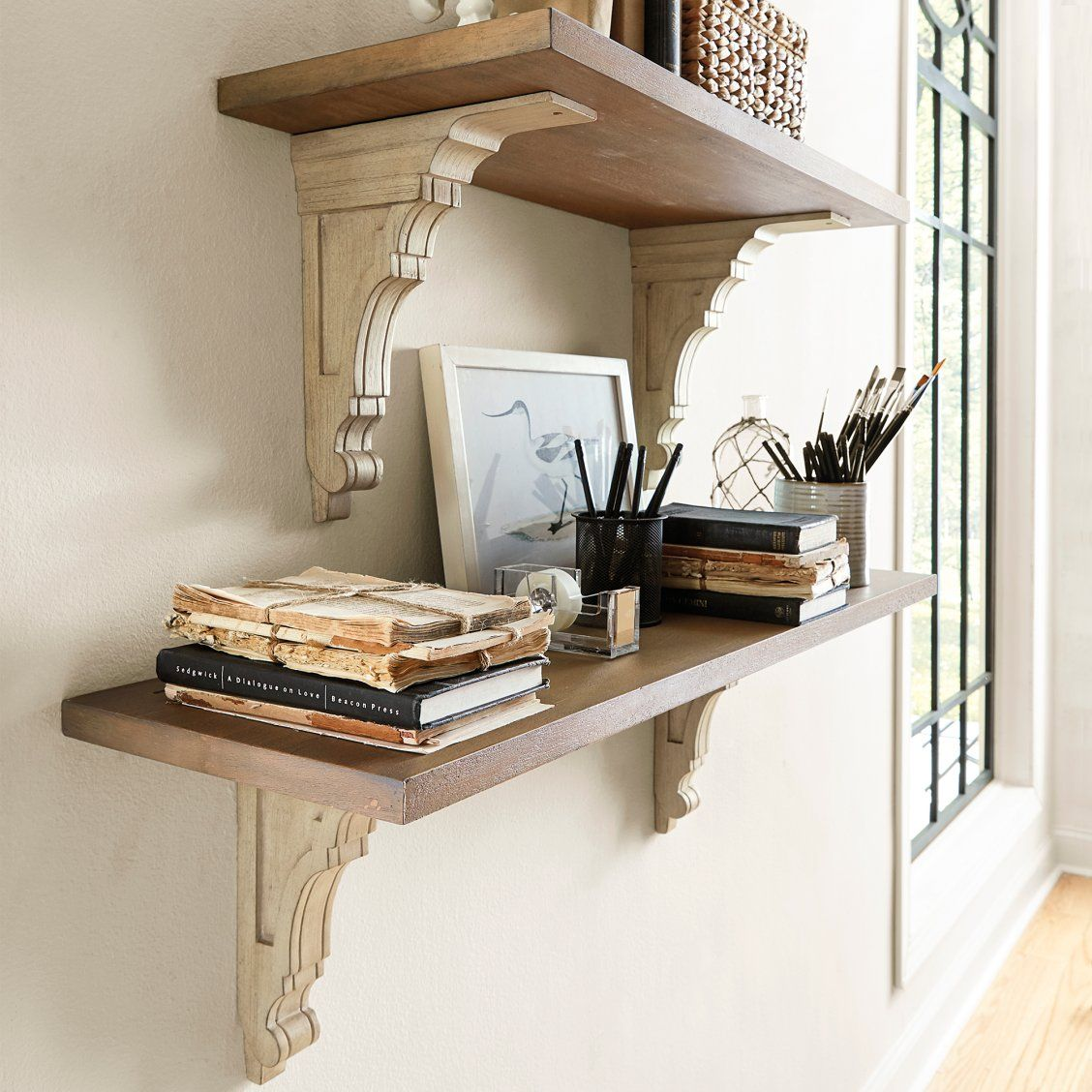 Mix & Match Wooden Shelves & Brackets