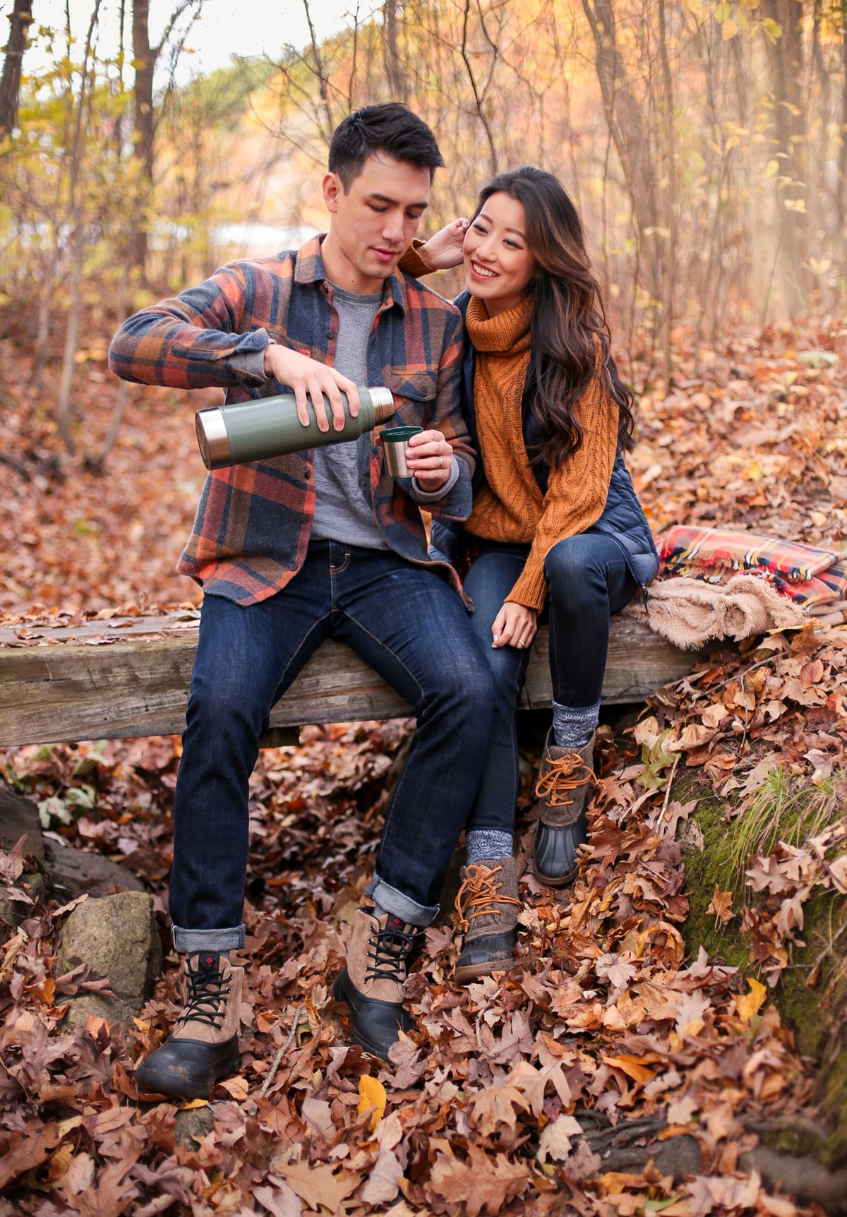 His & Hers Fall Style // Warm Layers + Waterproof Boots ...