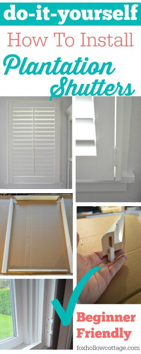 Easy diy plantation shutter installation simple diy diy do it yourself simple diy instructions on how to install plantation shutters a beginner friendly project solutioingenieria Choice Image