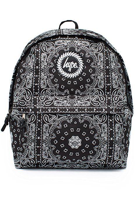 Just Hype Bandana Backpack Black White  efe88ce590556