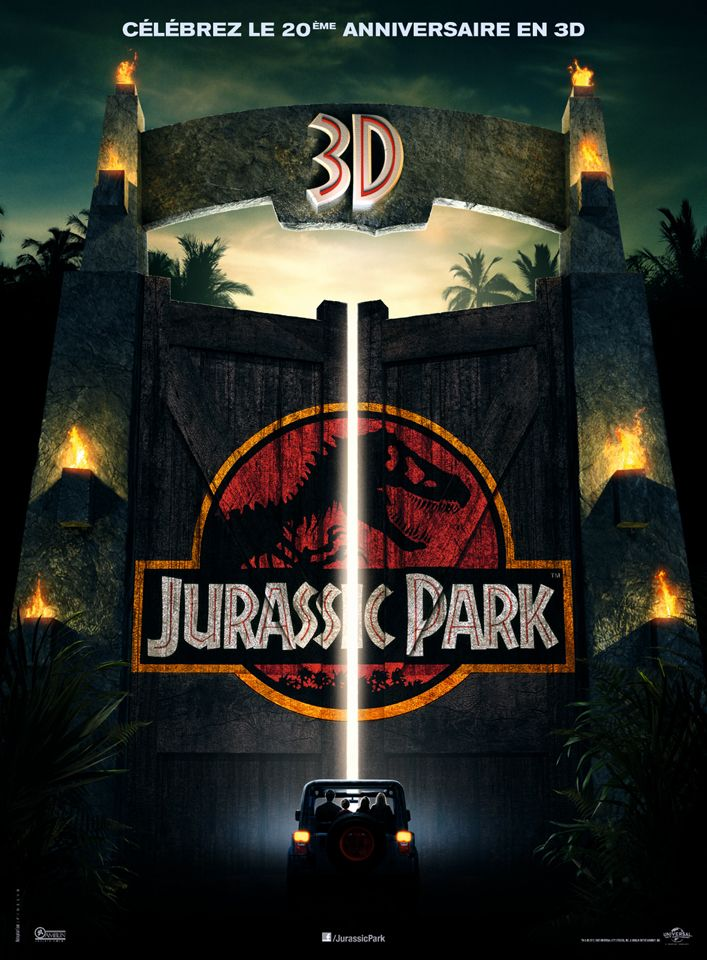 Jurassic Park 3D Sam Neill Parc jurassique, Film d