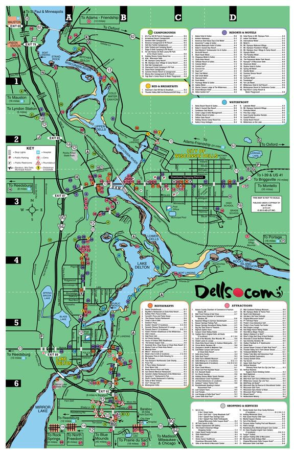Map Of Wisconsin Dells Wisconsin Dells Map | The earth is the Lord's, and the fullness