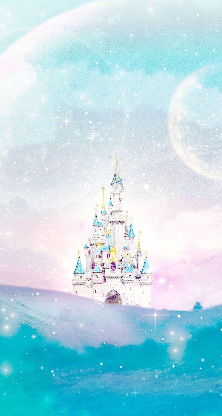 Disney Castle Art Fond D Ecran Iphone Disney Papiers Peints
