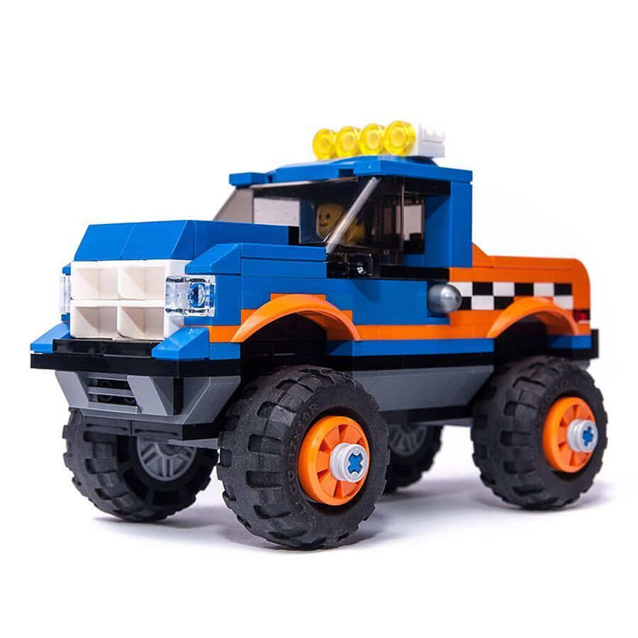 Lego City Monster Truck Mod Inspired By The Looks Of 60180 Set Building Tutorial Vid At Keeponbricking Yt Channel Monster Trucks Truck Mods Mod Inspired