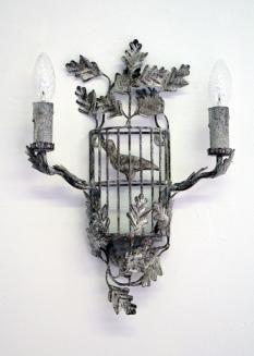 Pieds de Lampe et appliques murales Applique Oiseleur Blanc
