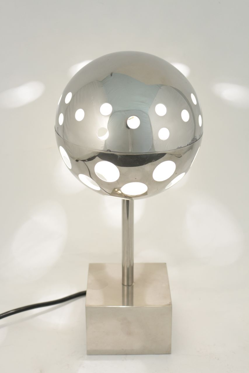 """Sabine Charoy lampe """"Planétaire"""" Verre Lumi¨re édition 1965"""