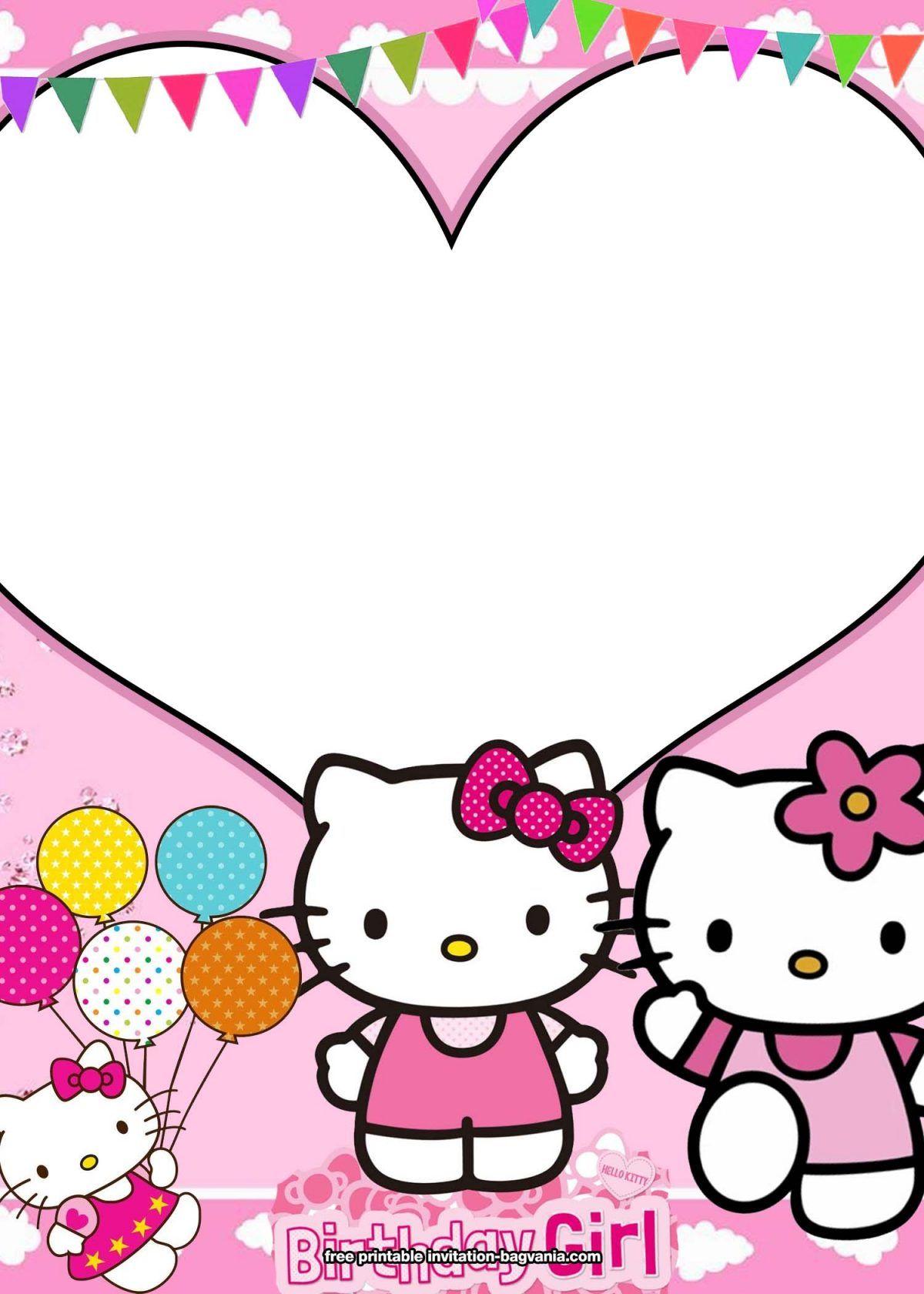 10 free personalized hello kitty invitation templates