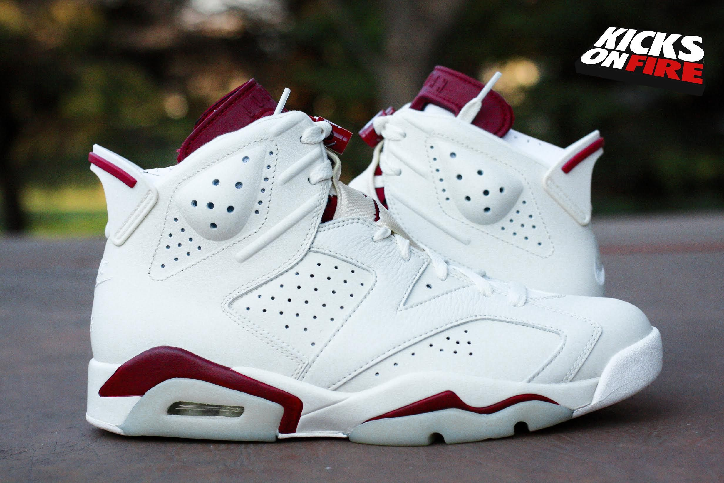 Air jordan 6 maroon 3