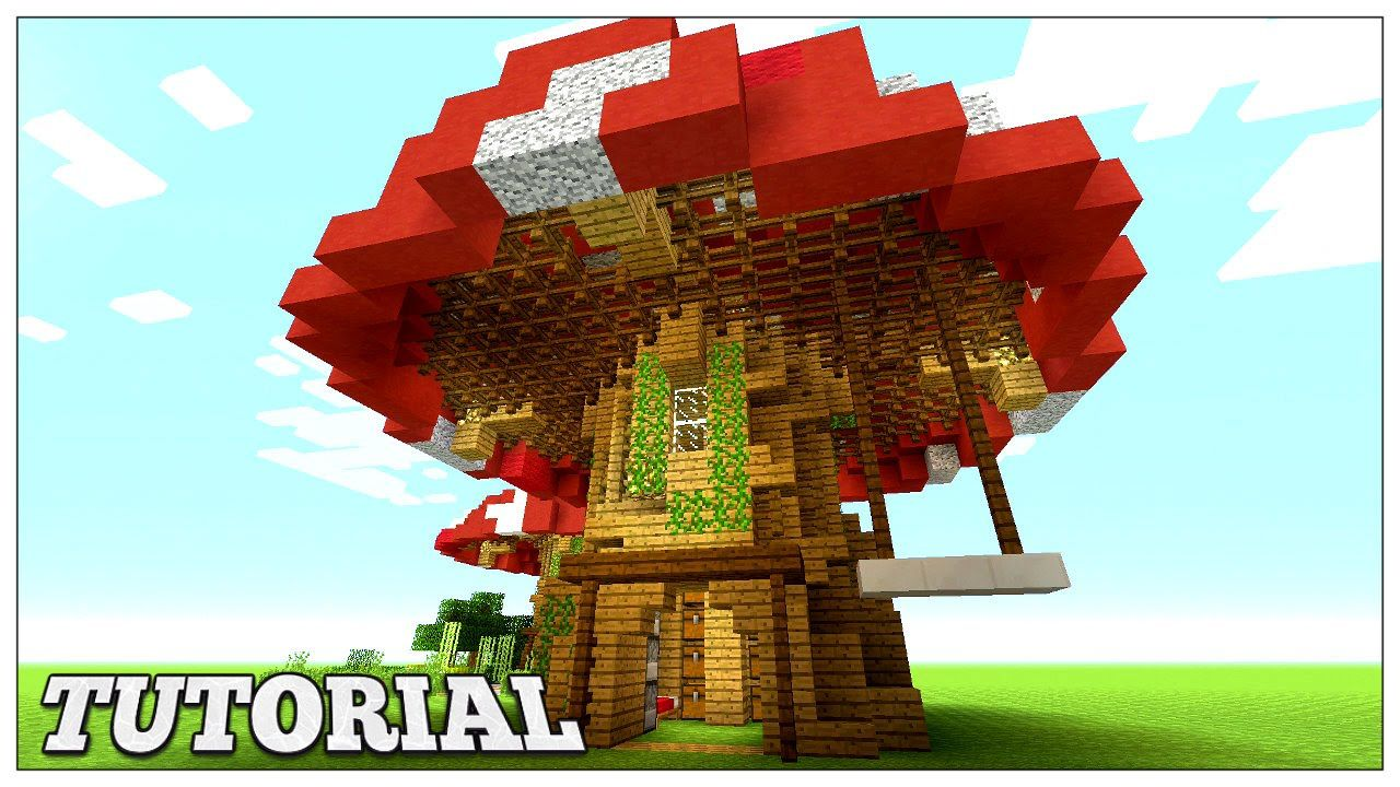 Minecraft: How To Build A Mushroom House Tutorial | Easy