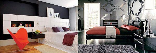 43 Best Schwarz Rot Und Weißen Schlafzimmer Deko Ideen ...