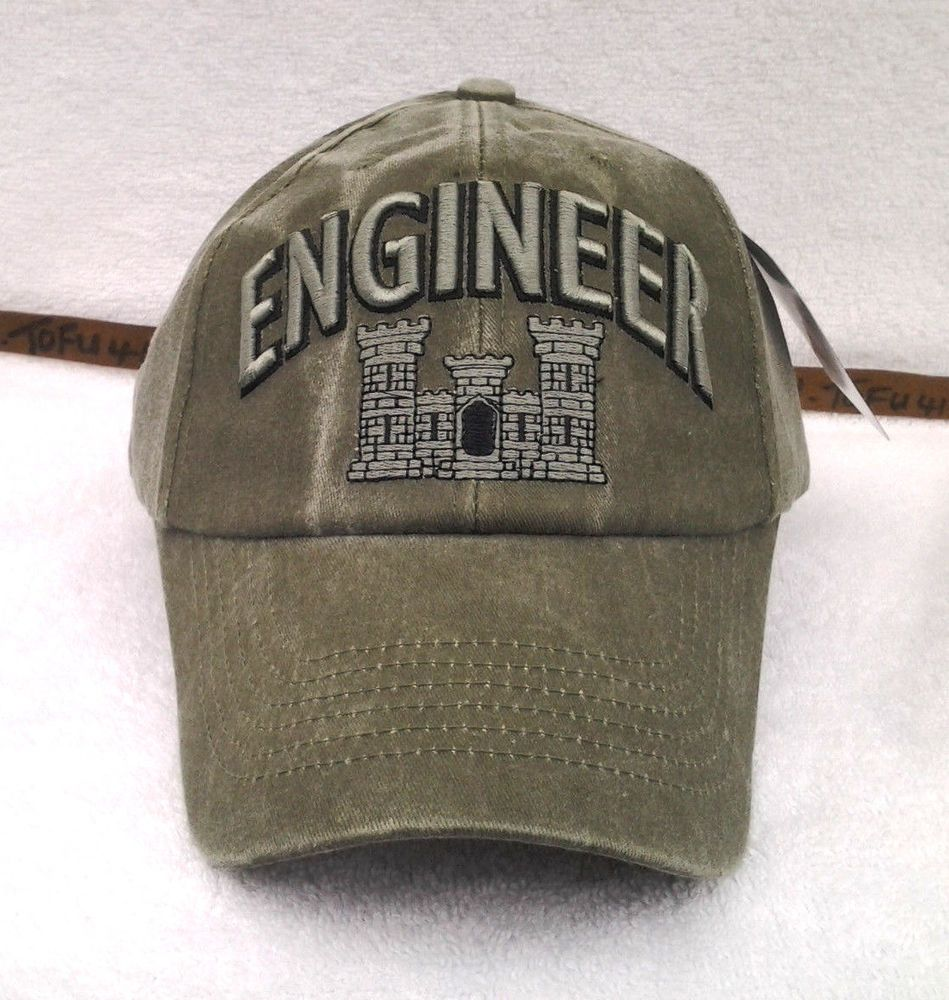 58315b136f62d US ARMY ENGINEER Military Veteran STONE WASHED OD Hat 6603 MTEC  Eagle   BaseballCap