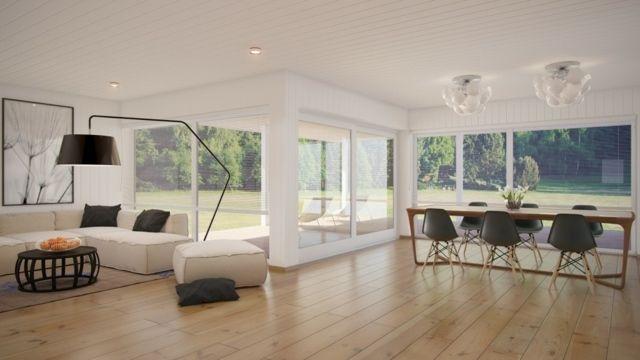 Ideen zur Einrichtung eines Esszimmers im Wohnzimmer Halle
