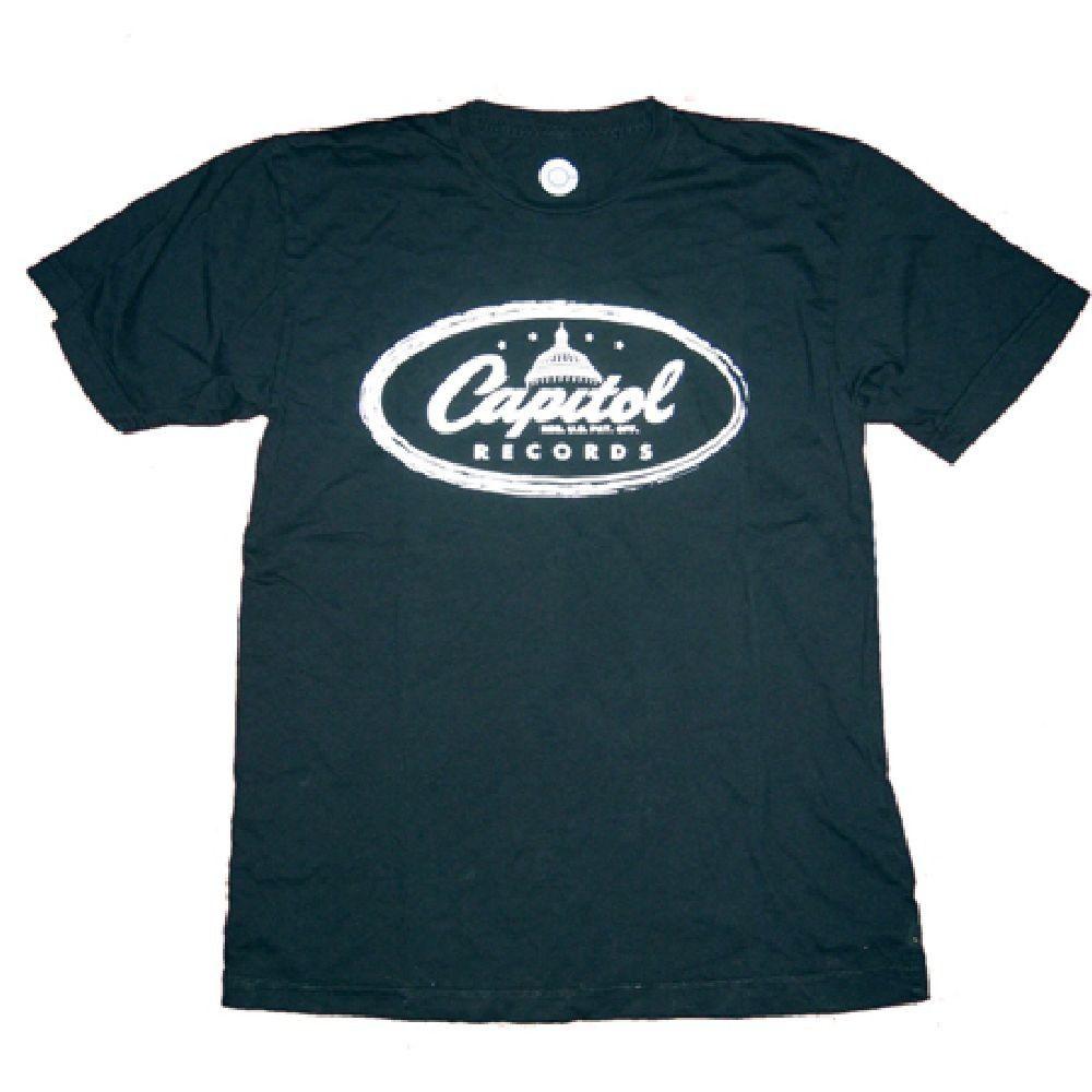 Rocker Rags - Capitol Records T-shirt - Capitol Records Recording Label Classic Logo. Men's Black Shirt, $28.00 (http://www.rockerrags.com/capitol-records-t-shirt-capitol-records-recording-label-classic-logo-mens-black-shirt/)