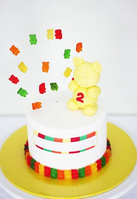 Gummy Bear Cake With Images Gummy Bear Cakes