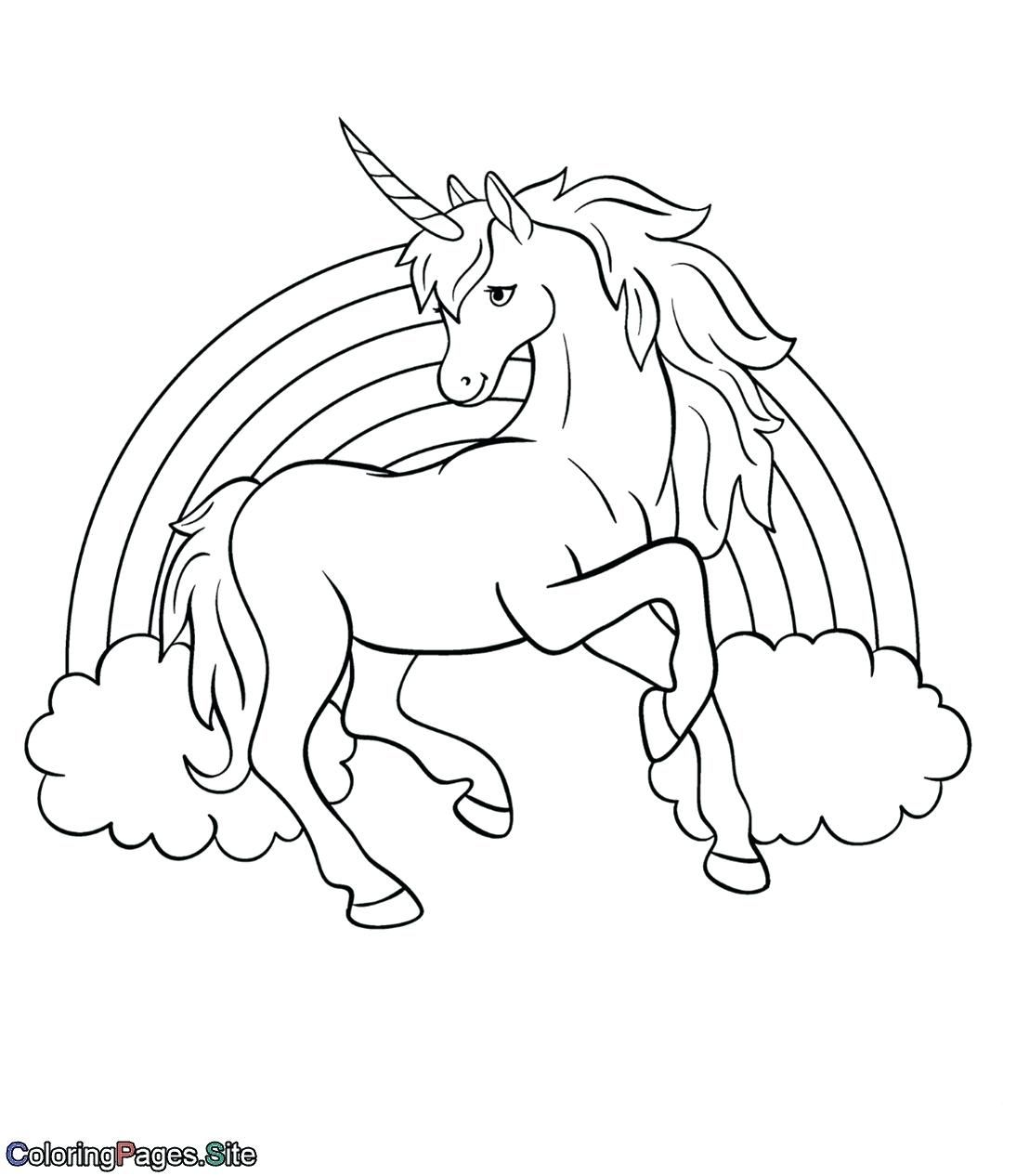Unicorn Rainbow Printable Coloring Pages For Kids Unicorn