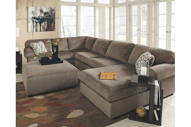Jessa Place 3-Piece Sectional by Ashley HomeStore, Tan, Polyester ...