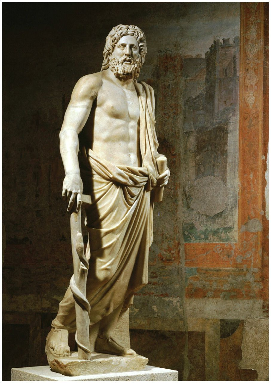 Marble Statue Of Aesculapius The Greek God Of Medicine