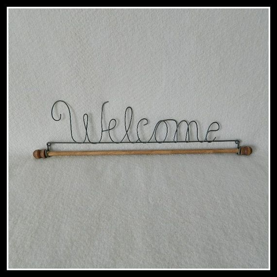 Welcome Quilt Hanger Gray Wire 12 16 22 Inches by HTQuiltHangers ...