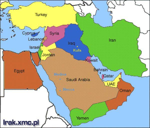 mapa iraku