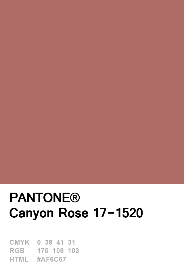 Pantone Canyon Rose 17-1520 Colour of The Day 08 January ...