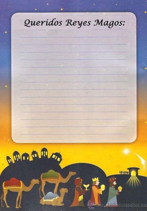 Cartas para imprimir y escribir a los Reyes Magos   CARTA PAPA NOEL ...