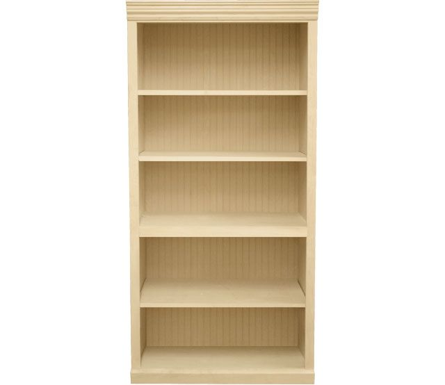 36 X 72 Maple Bookcase This Maple Bookcase Features 3 Adjustable Shelves And 1 Fixed Shelf Our Bookcase Contemporary Bookcase Adjustable Shelving Bookcase
