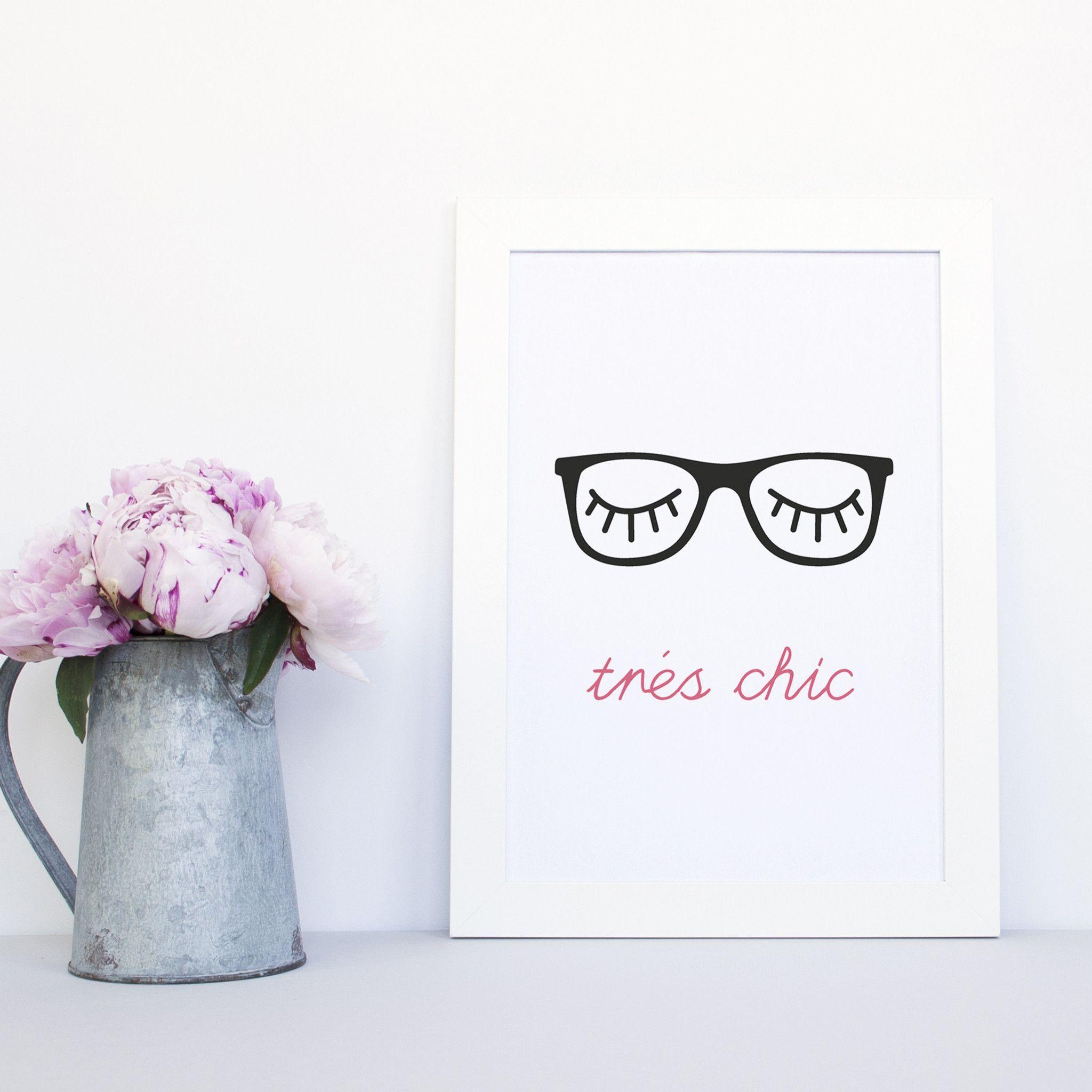 Trés Chic Glasses Print