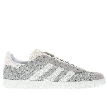 huge selection of 04851 54530 Adidas light grey gazelle prime knit trainers Take your sneaker game to  the next