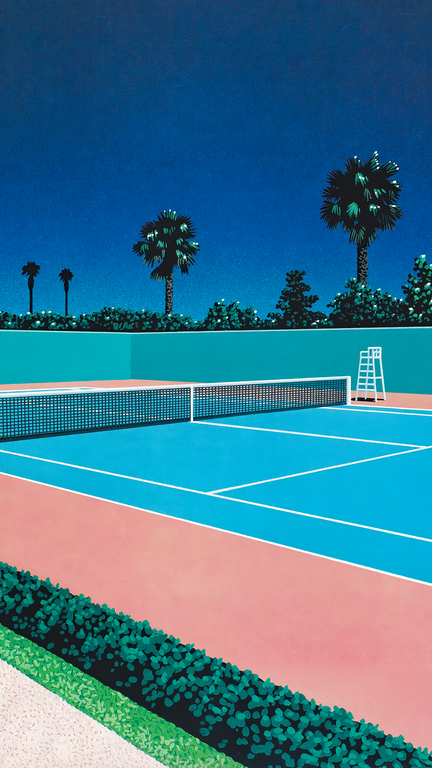 Tennis Court By Hiroshi Nagai 1440x2560 Verticalwallpapers In 2020 Tennis Wallpaper Aesthetic Pictures Tennis Court