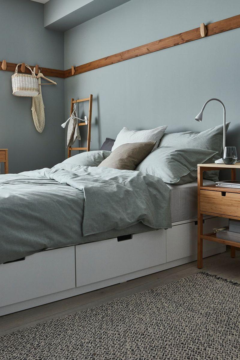 Nordli Bettgestell Mit Schubladen Weiss Ikea Deutschland In 2020 Wohnung Bettgestell Zimmer Einrichten