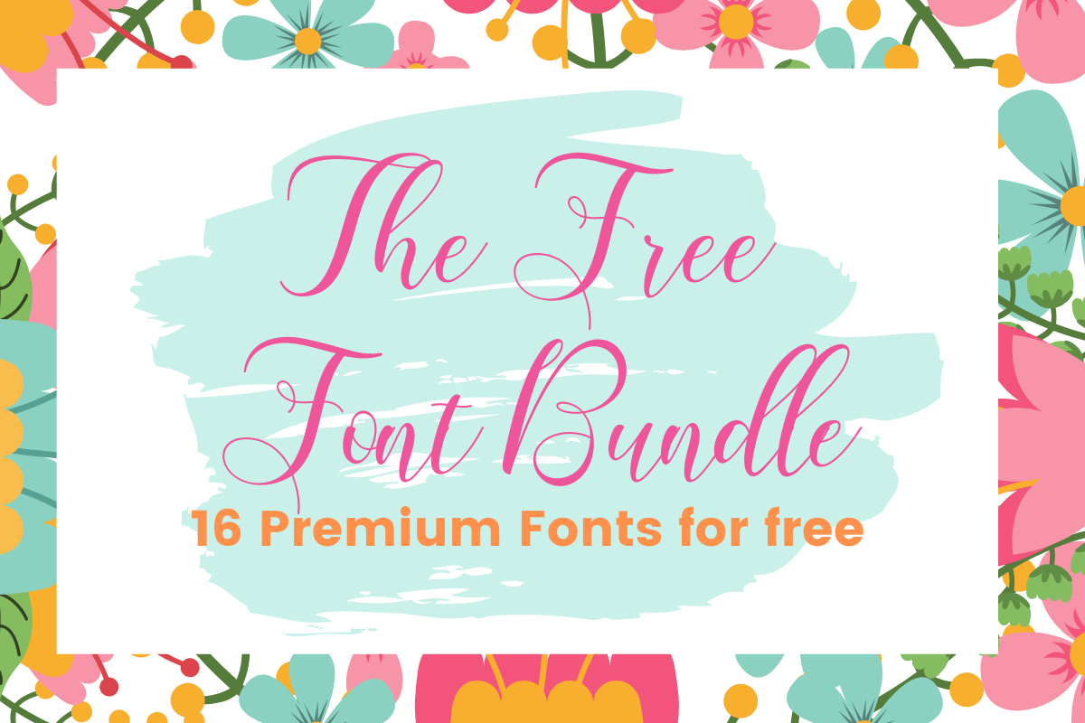 Download The Free Font Bundle (Bundle) · Creative Fabrica in 2020 ...