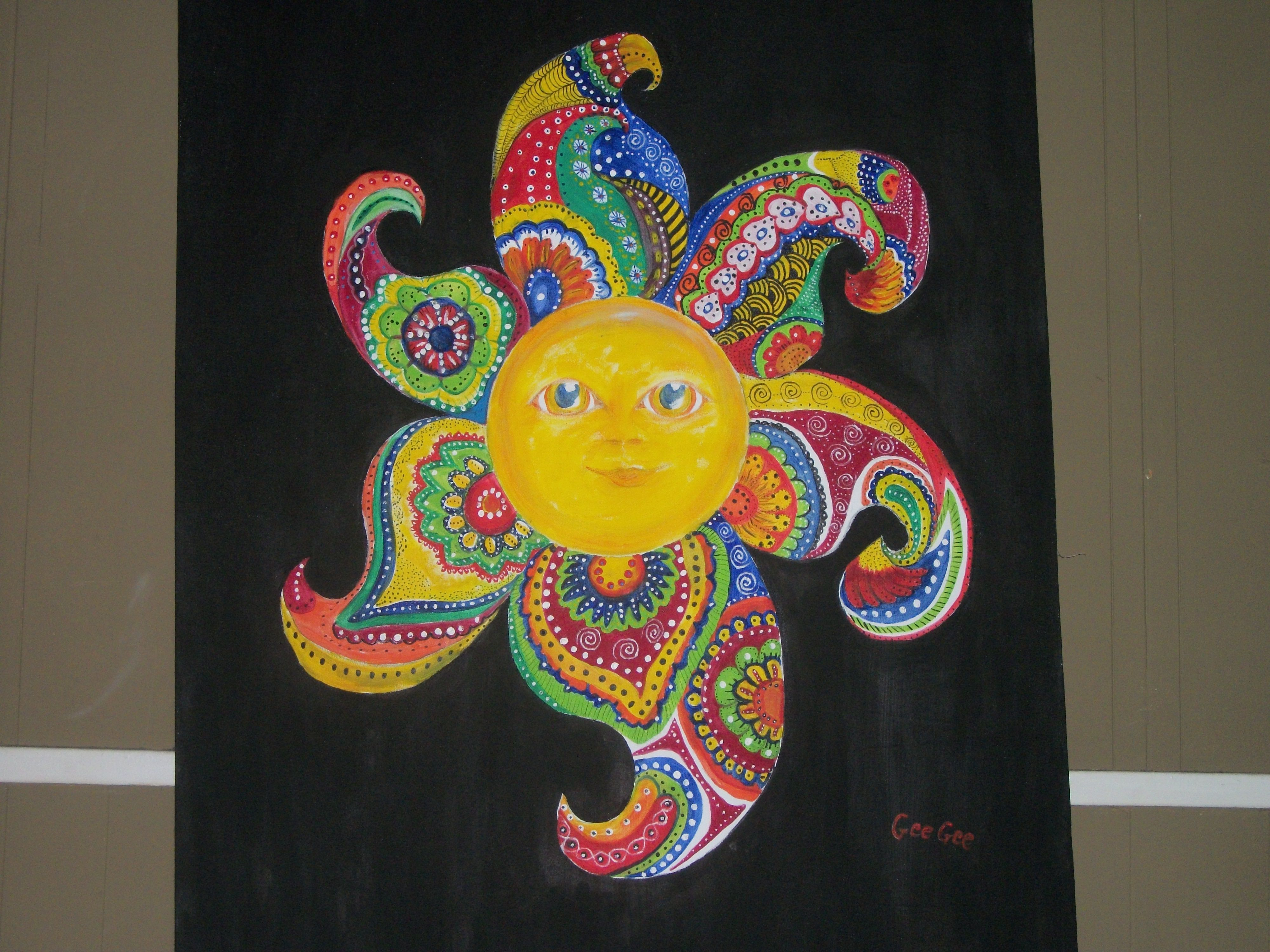 Large Sun Painting