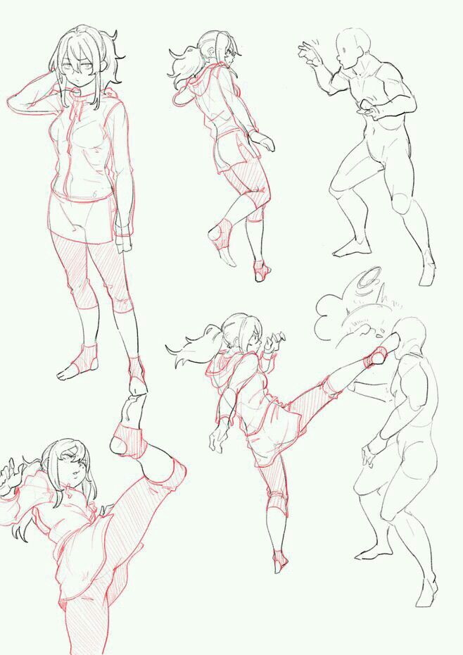 Female Fighter Drawing Reference | Drawing References in
