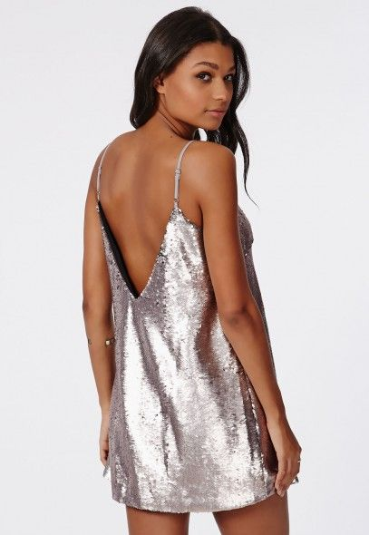 87ec5bb8b38 Slinky and sparkly, the #90s style Lorna Sequin Dress in Silver ...